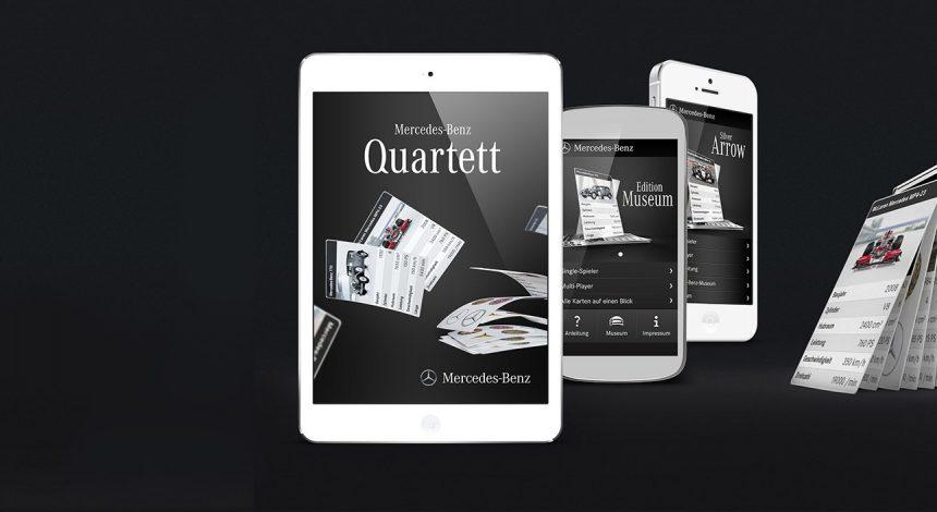 Mercedes Benz Quartett-App zur Kundenbindung
