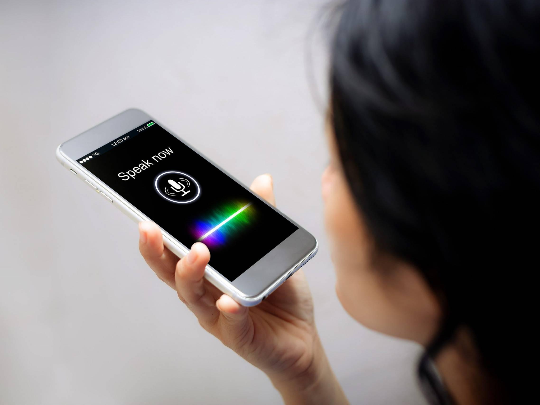 Apple Siri voice interface person DMG