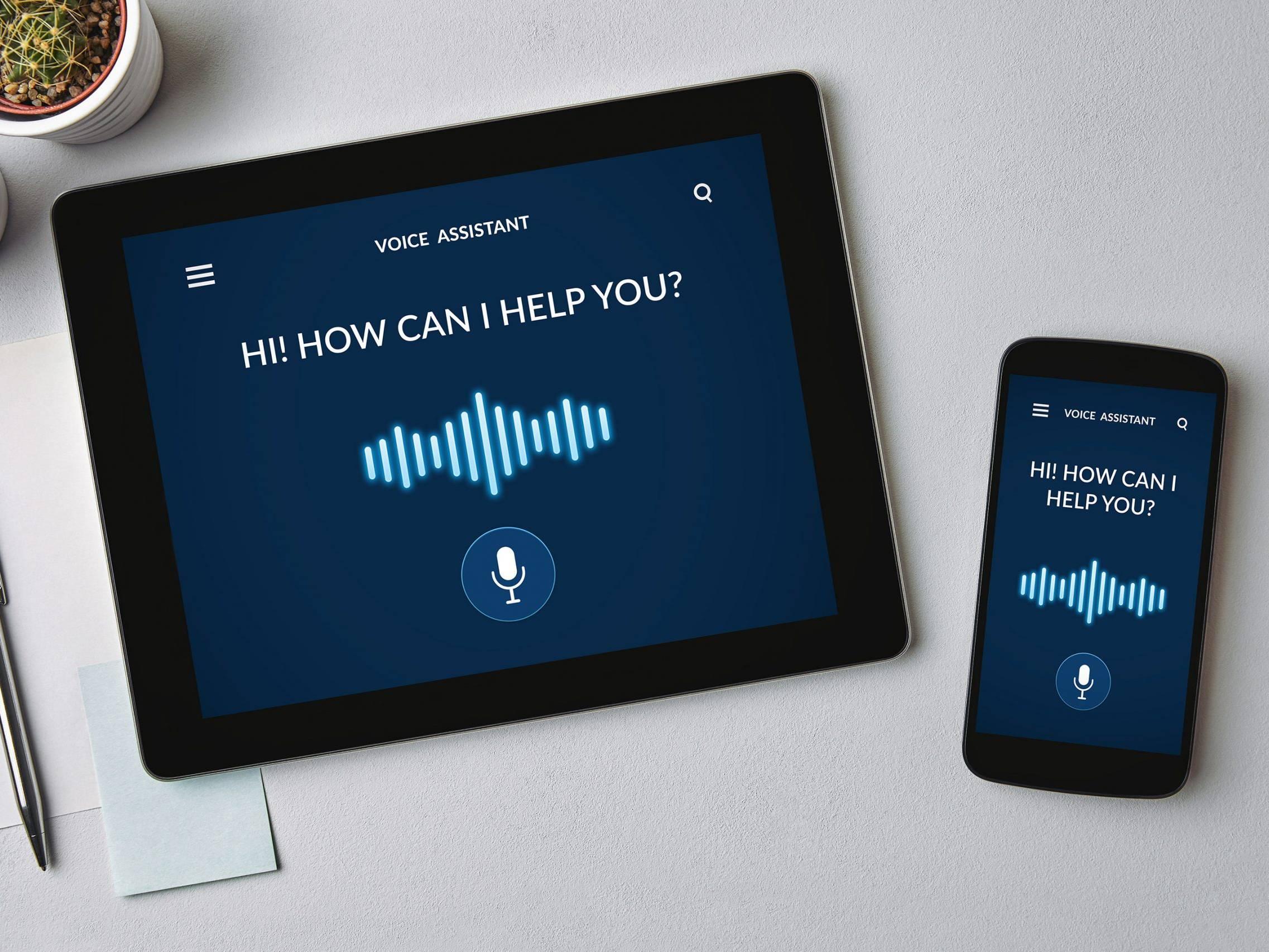 Voice assistance tablet smartphone DMG